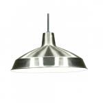 Warehouse Shade Pendant Light Fixture, Brushed Nickel