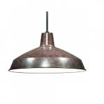 Warehouse Shade Pendant Light Fixture, Old Bronze