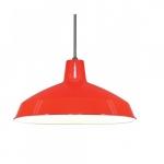 Warehouse Shade Pendant Light Fixture, Red