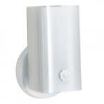 """Wall Mounted Vanity Light Fixture, White, White """"U"""" Channel Glass"""