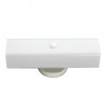 "2-Light Wall Mounted Vanity Light Fixture, White, White ""U"" Channel Glass"