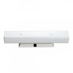 "4-Light Wall Mounted Vanity Light Fixture, White, White ""U"" Channel Glass"