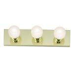 3-Light Bathroom Vanity Strip Light Fixture, Polished Brass
