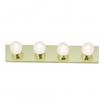 4-Light Bathroom Vanity Strip Light Fixture, Polished Brass