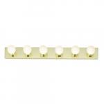 6-Light Bathroom Vanity Strip Light Fixture, Polished Brass