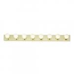 8-Light Bathroom Vanity Strip Light Fixture, Polished Brass