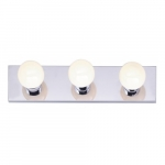 3-Light Bathroom Vanity Strip Light Fixture, Polished Chrome