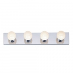 4-Light Bathroom Vanity Strip Light Fixture, Polished Chrome
