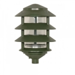 4-Tier Pagoda Pathlight Fixture, Small Hood, 1-light, Green