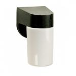 4in Outdoor Wall Light, Lexan Cylinder, 1-light, Black