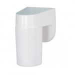 4in Outdoor Wall Light, Lexan Cylinder, 1-light, White