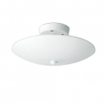 12in Semi-Flush Mount Light Fixture, Round, 2-light, White