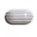 10in Outdoor Wall Light, Oval Cage, 1-light, White