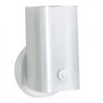 "7"" Vanity Light Fixture w/ Bottom Turn Switch, White ""U"" Channel Glass"