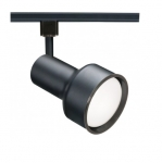 50W Track Light, R20, Step Cylinder, 1-Light, Black