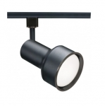 75W Track Light, R30, Step Cylinder, 1-Light, Black