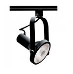150W Track Light, PAR38, Gimbal Ring, 1-Light, Black