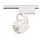 50W Track Light, MR16, Square Head, 1-Light, White