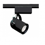 50W Track Light, MR16, Round Back, 1-Light, Black