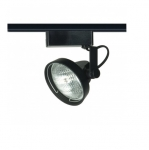 50W Track Light, PAR36, Gimbal Ring, 1-Light, Black