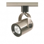 50W Track Light, MR16, Round Back, 1-Light, Brushed Nickel