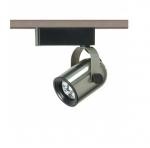 1-Light Track Light Head, MR16, Round Back, Brushed Nickel
