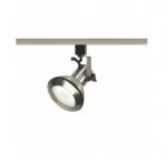 1-Light Track Light Head, PAR30 Bulb, Euro Style, Brushed Nickel