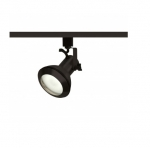 1-Light Track Light Head, PAR30 Bulb, Euro Style, Black