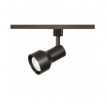 1-Light Track Light Head, R20, Step Cylinder, Russet Bronze
