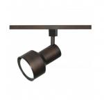 1-Light Track Light Head, R30, Step Cylinder, Russet Bronze