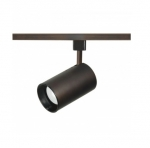 1-Light Track Light Head, R20, Straight Cylinder, Russet Bronze