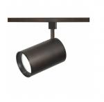 1-Light Track Light Head, R30, Straight Cylinder, Russet Bronze