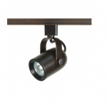 1-Light Track Light Head, MR16, Round Back, Russet Bronze