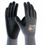 MicroFoam Nitrile Gloves, Large, Black/Gray