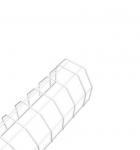 Wire Guard for 4ft Strip Fixture, White