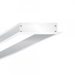 1 x 4' Flange Kit for LED Flat Panel, White