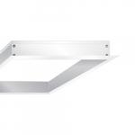 2 x 2' Flange Kit for LED Flat Panel, White