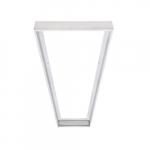 1 x 4' Surface Mounting Kit for LED Flat Panel, White