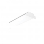 30W/35W/40W Selectable 4-ft LED Wrap Light Fixture, Dimmable, 3500K-5000K