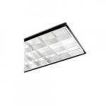 2x4 Parabolic Fixture for 3 LED T8 Tube Lights, 18 Cell, 120V-277V