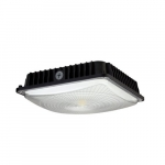 60W LED Canopy Light Fixture, Dimmable, 100-175W MH Retrofit, 7800 lm, 4000K, Black