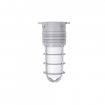 14W LED Vapor Tight Jelly Jar, Ceiling Mount, 100W Inc. Retrofit, 900 lm, 4000K, Gray