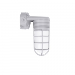 14W LED Vapor Tight Jelly Jar, Wall Mount, 100W Inc. Retrofit, 900 lm, 4000K, Gray