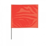 2-in X 3-in X 18-in Wire Stake Marking Flags, Red Glo