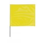 2-in X 3-in X 18-in Wire Stake Marking Flags, Yellow