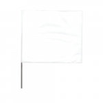 2-in X 3-in X 21-in Wire Stake Marking Flags, White
