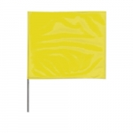 2-in X 3-in X 21-in Wire Stake Marking Flags, Yellow