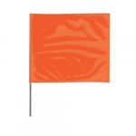 4-in X 5-in X 24-in Wire Stake Marking Flags, Orange Glo