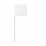 "4""X5""X24"" Wire White Stake Marking Flags"