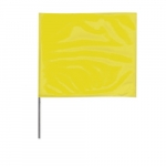 4-in X 5-in X 36-in Wire Stake Marking Flags, Yellow